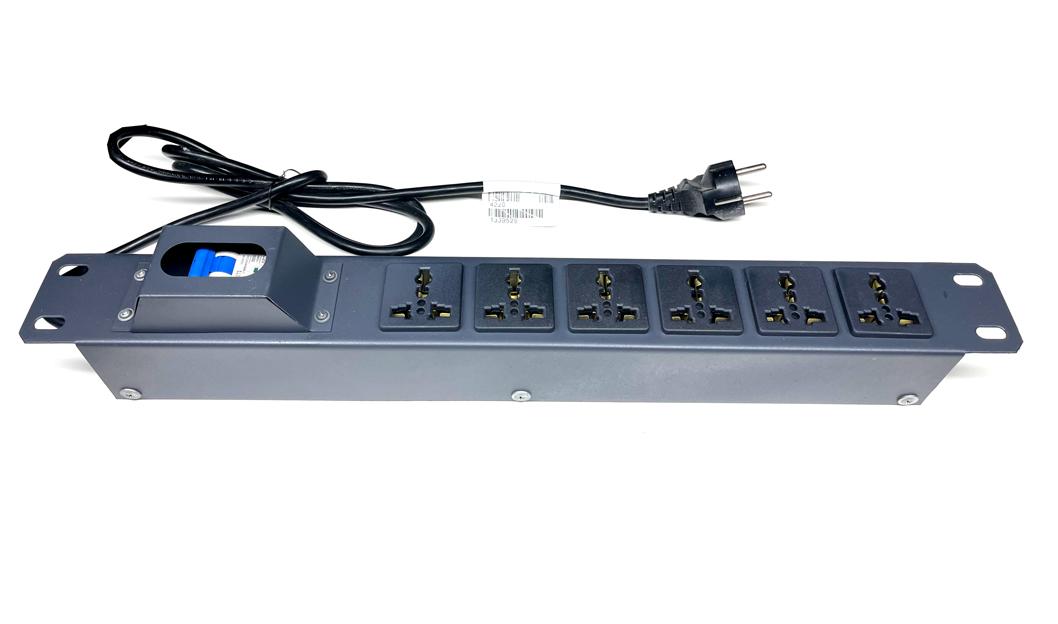 Thanh nguồn PDU 6 ổ 3 chân 20A, Thanh nguồn PDU 6 ổ cắm đa năng 20A, UNR-P6M20/1U hãng UNIRACK