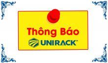 Unirack thông báo mở văn phòng đại diện khu vực phía nam