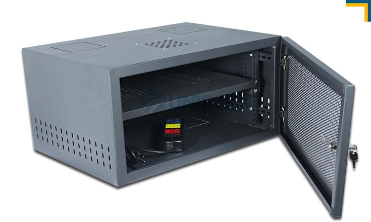 tủ rack 6u sâu 400 màu đen