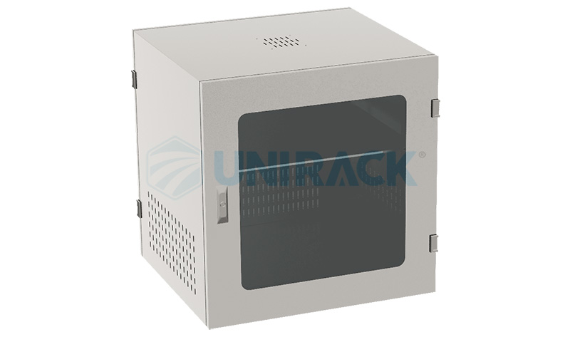 Tủ Rack 10U D500 màu trắng cửa mika